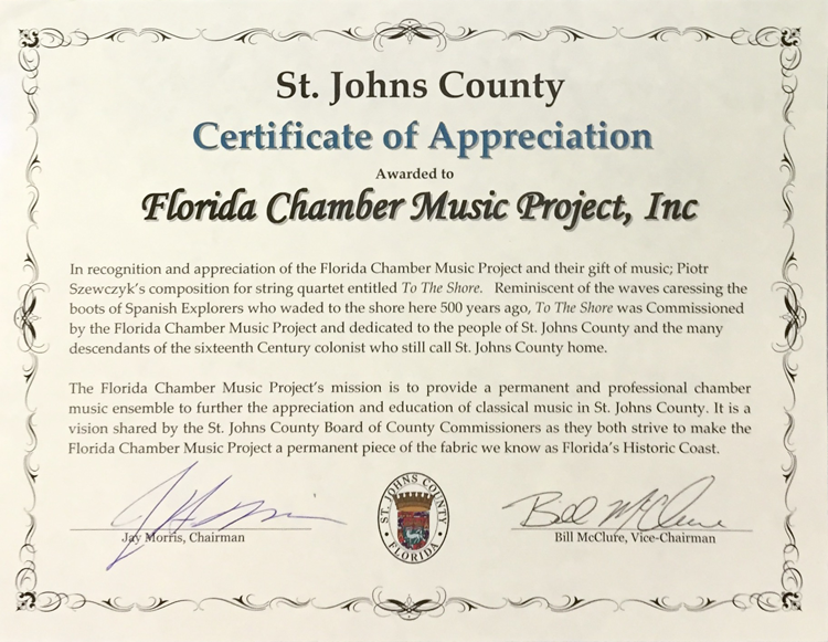 St. Johns County Proclamation